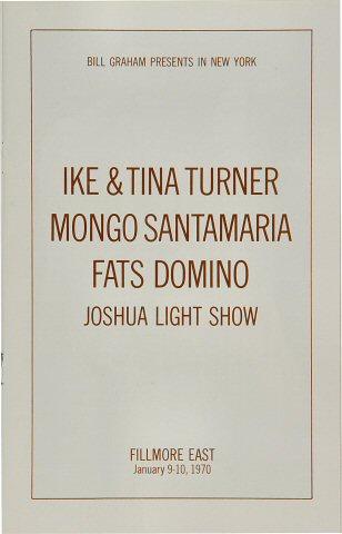 Ike & Tina Turner Program reverse side
