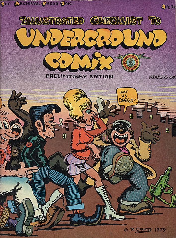 Illustrated Checklist to Underground Comix: Preliminary Edition Comic Book