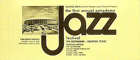 Astrodome Jazz Festival Program