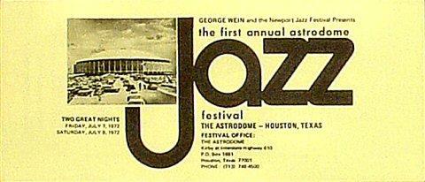 Astrodome Jazz Festival Program
