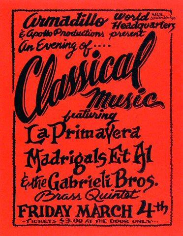 La Primavera Madrigals Et Al Handbill