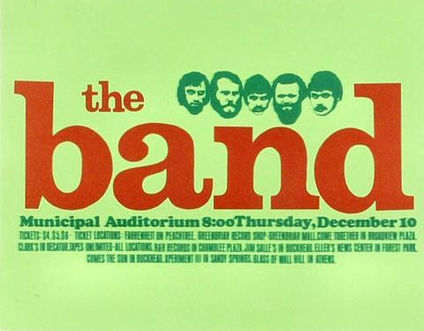 The Band Handbill