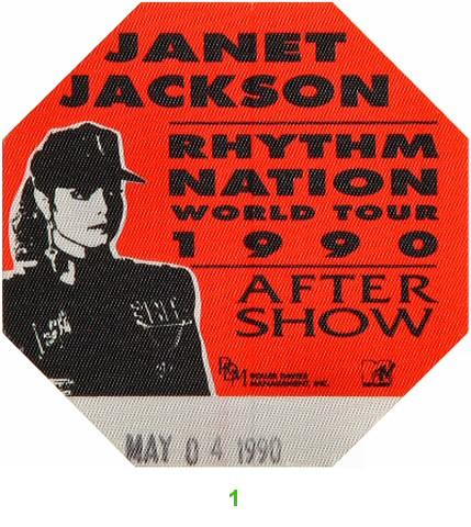 Janet Jackson Backstage Pass