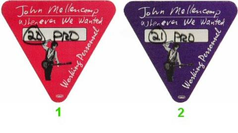 John Mellencamp Backstage Pass