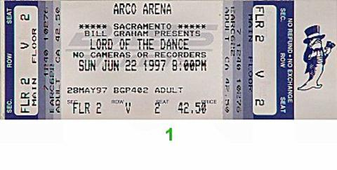 Lord of the Dance Vintage Ticket
