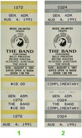 The Band Vintage Ticket