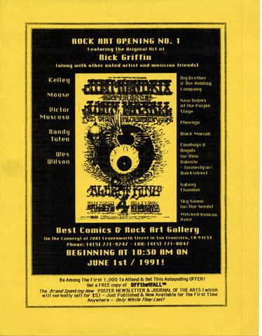 Rock Art Opening Handbill