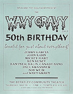 Wavy Gravy 50th Birthday Benefit Handbill