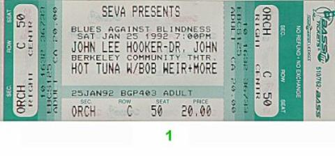 John Lee Hooker Vintage Ticket