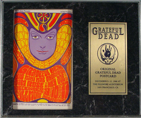 Grateful Dead Plaque Postcard