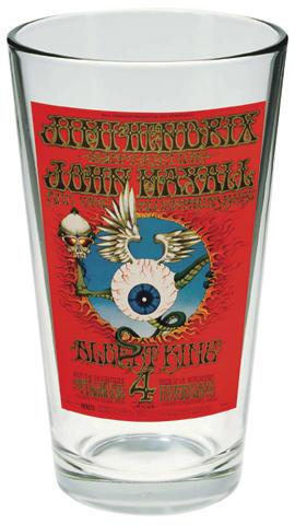 Jimi Hendrix Experience Pint Glass