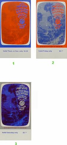 Moby Grape Vintage Ticket