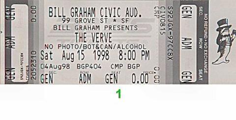 The Verve Vintage Ticket