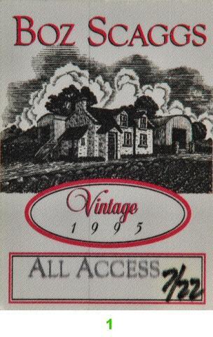 Boz Scaggs Backstage Pass