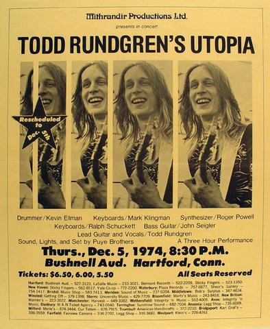 Todd Rundgren & Utopia Poster