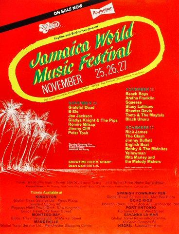 Jamaica World Music Festival Poster