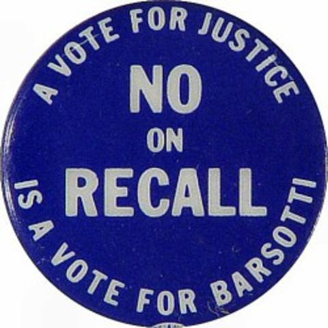 Judge Barsotti Recall Pin