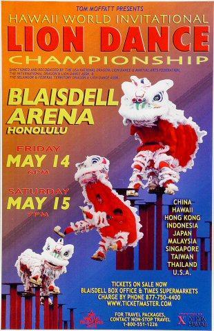 Lion Dance Championship Poster