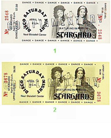 Stargard Vintage Ticket