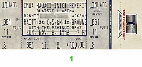 Benefit for Hawaii Hurricane Relief Vintage Ticket
