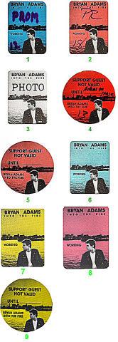 Bryan Adams Backstage Pass