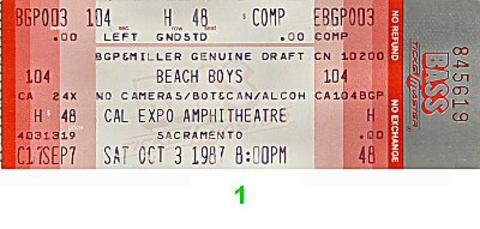 The Beach Boys Vintage Ticket