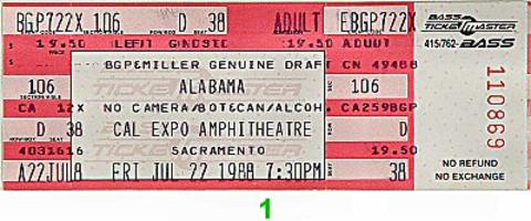 Alabama Vintage Ticket