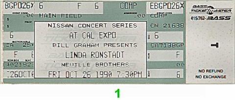 Linda Ronstadt Vintage Ticket