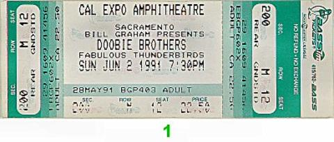 The Doobie Brothers Vintage Ticket