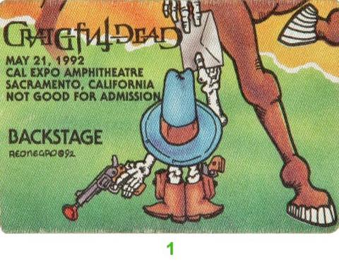 Grateful Dead Backstage Pass