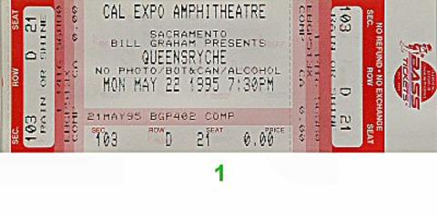 Queensryche Vintage Ticket