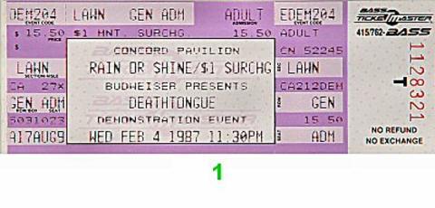Deathtongue Vintage Ticket