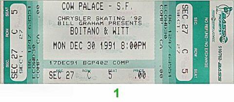 Brian Boitano Vintage Ticket