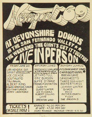 Newport Pop Festival Handbill