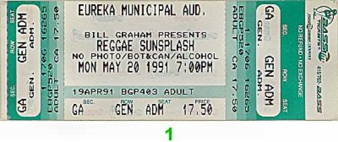 Reggae Sunsplash Vintage Ticket