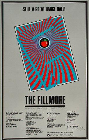 Fillmore Monthly Lineup Poster