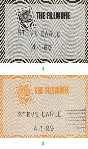 Steve Earle & the Dukes Backstage Pass