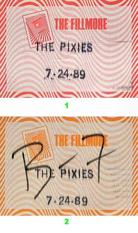 Pixies Backstage Pass