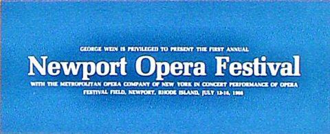 Newport Opera Festival Program