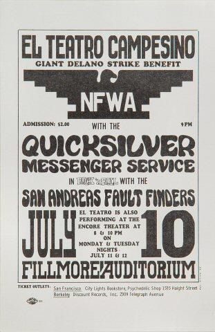 Delano Grape Strike Benefit Handbill