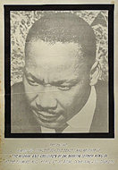 Widow and Children of Dr. Martin Luther King, Jr. Benefit Poster