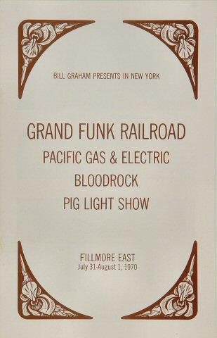 Grand Funk Railroad Program