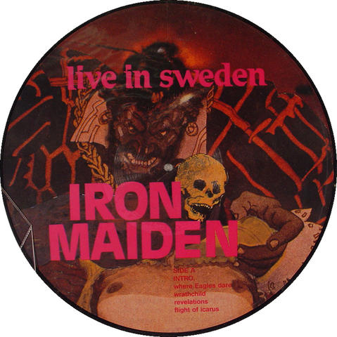 "Iron Maiden Vinyl 12"" (New)"