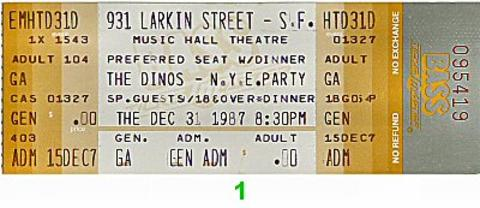 The Dinos Vintage Ticket