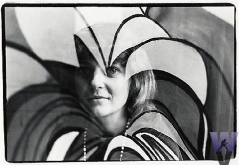A Hippie Woman Vintage Print
