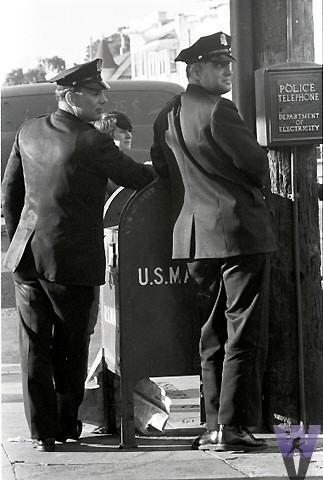 Police Officers Vintage Print