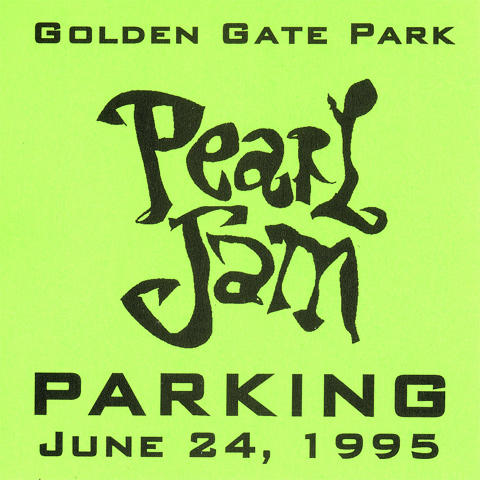 Pearl Jam Backstage Pass