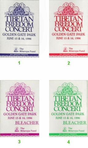 Tibetan Freedom Concert Backstage Pass