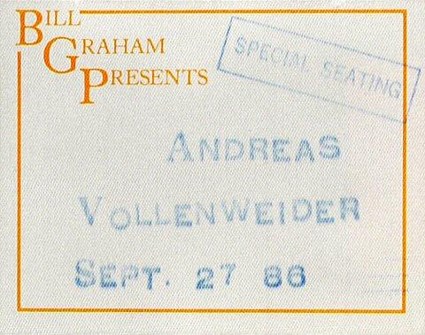 Andreas Vollenweider Backstage Pass