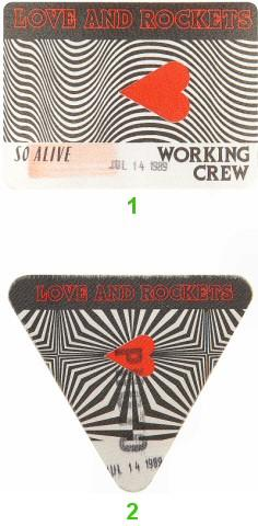 Love and Rockets Backstage Pass